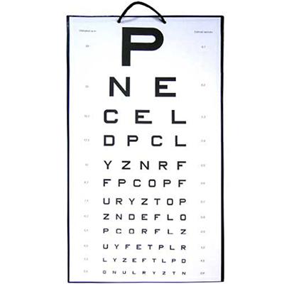 Tablica okulistyczna LITERA P